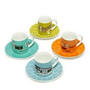 Magpie Expresso Cups & Saucers- NIB -Set of 4
